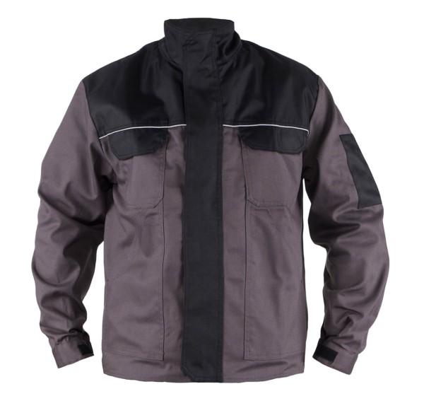 Arbeitsjacke Übergröße grau schwarz
