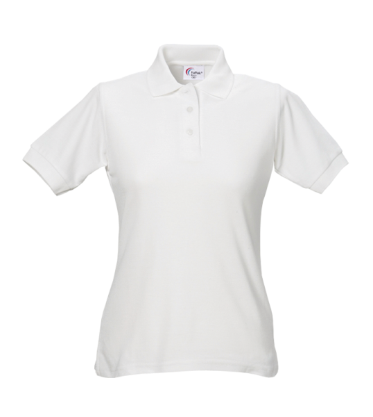 Damen Poloshirt 60 °C Grad waschbar weiss Arbeitsshirt Arbeits-t-shirt tailliert
