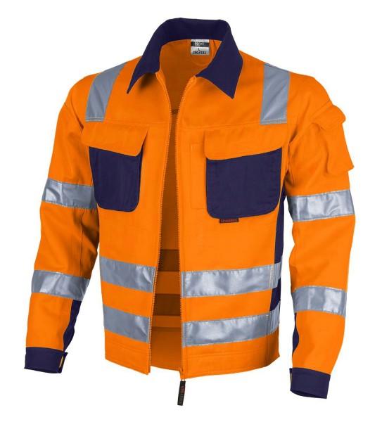 Qualitex Warnschutzkleidung orange dunkelblau Arbeitsjacke Warnschutzjacke
