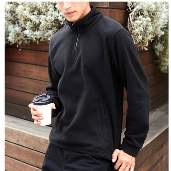 Fleece Pullover mit Reißverschluss und Seitentaschen Regatta Tra510