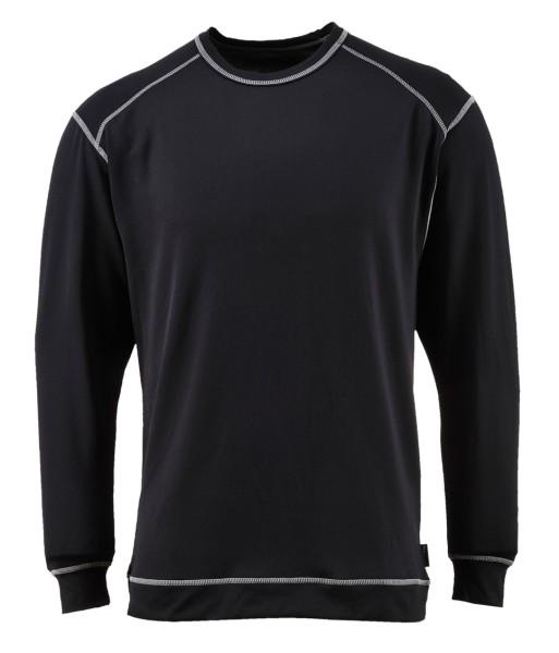 langarm Unterhemd Untershirt schwarz antibakteriell