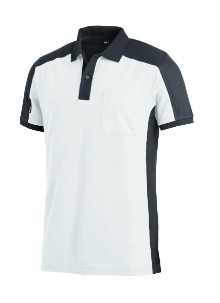 Maler T-Shirt Poloshirt Arbeits-polo-shirt weiss-grau zweifarbig FHB