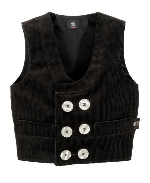 Kinder Zunftweste Zunftbekleidung Cord schwarz