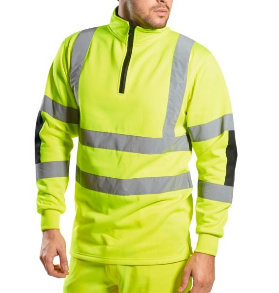 Warnschutz Sweatshirt Reißverschluss modern Portwest