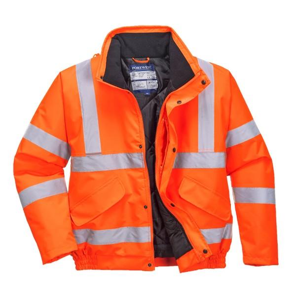 Warnschutzjacke Winterjacke orange