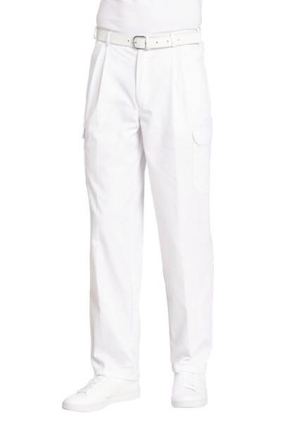 weiße Arbeitshose mit Oberschenkeltasche Arzthose weiße Hose für Pfleger