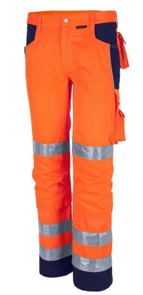 Qualitex Warnschutz Bundhose orange Arbeitshose marine