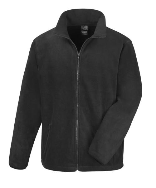 leichte Fleecejacke schwarz weiches Material Berufsbekleidung Herren