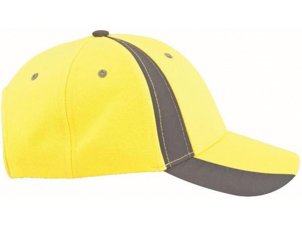 Cap gelb mit Reflex Warn Farben Leuchtfarben Twinkle