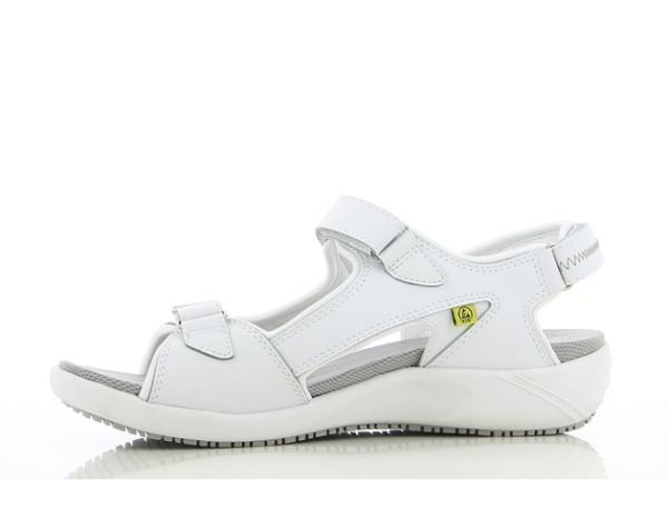 Schuhe für die Pflege, weiß mit Klettverschluss Oxypas Olga Berufsschuhe