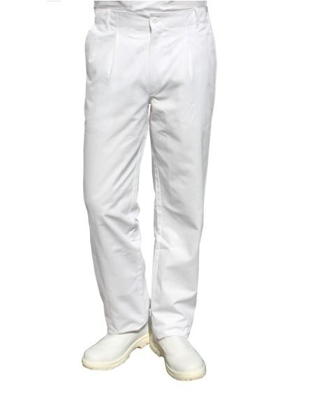 Herrenhose weiß 100% Baumwolle 44 bis Übergrößen 70