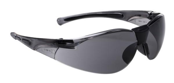 Schutzbrille mit getoenten Scheiben bietet auch seitlich am Auge Schutz