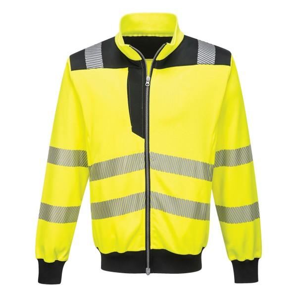 PW370 - PW3 Warnschutz Sweatshirt gelb-schwarz