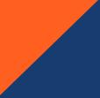 floureszierend orange/marine