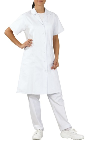 Mischgewebe Arbeitskittel kurzarm für Damen