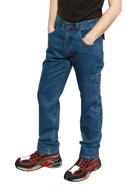 Jeans Arbeitshose mit Zollstocktasche