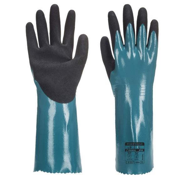 Portwest AP60 Chemikalienschutzhandschuhe mit Stulpe