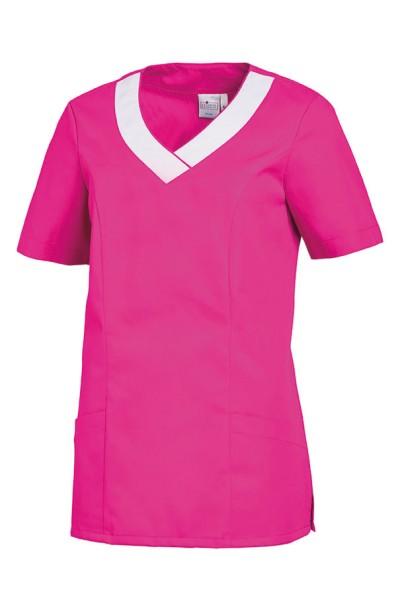 Damen Kasack Schlupfkittel Leiber 08/2730 pink fuchsia