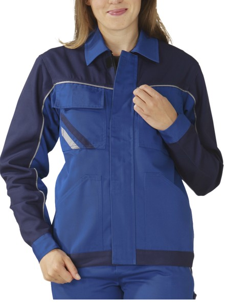 blaue Arbeitsjacke für Frauen